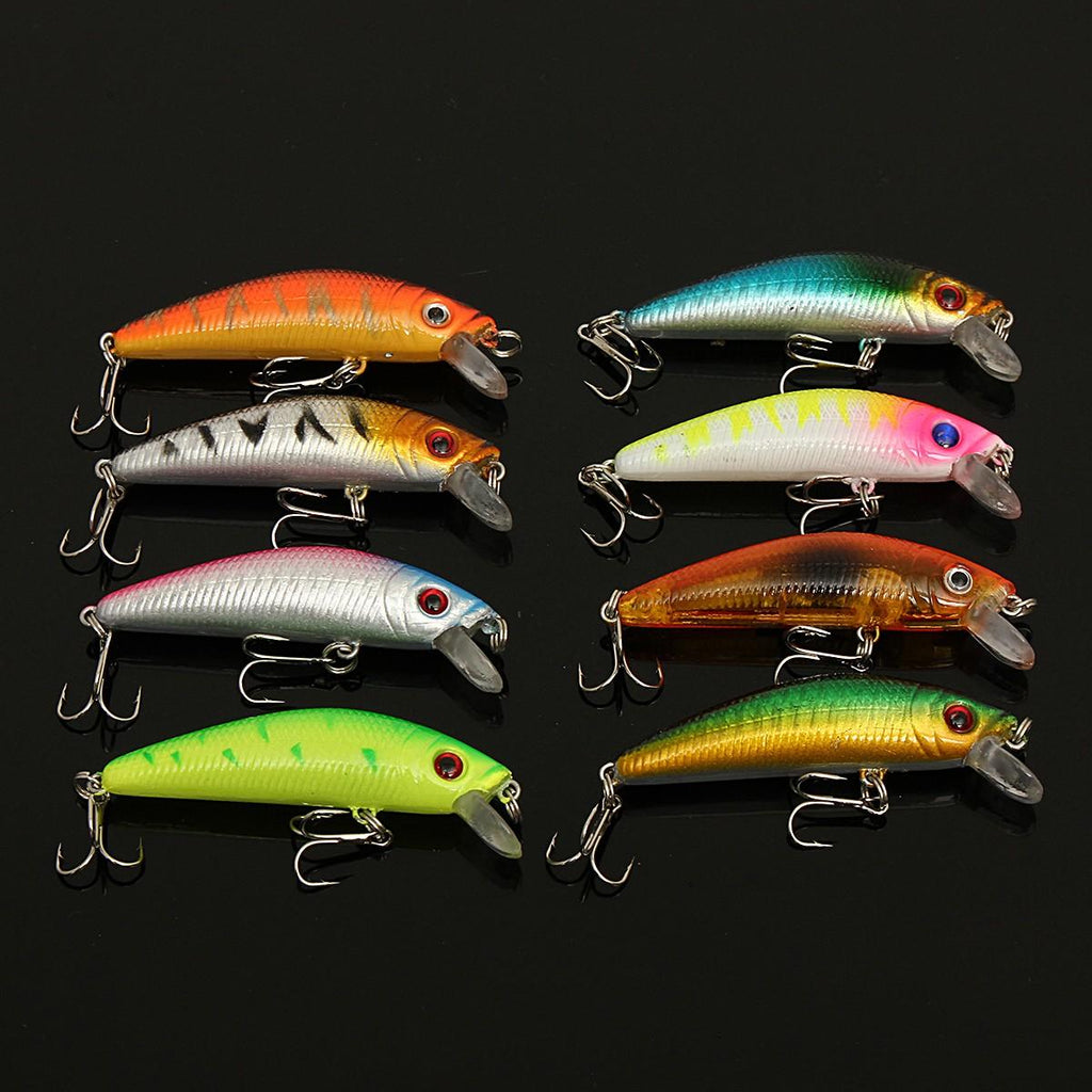 ZANLURE 56 PCS Minnow Fishing Lures spinning Baits