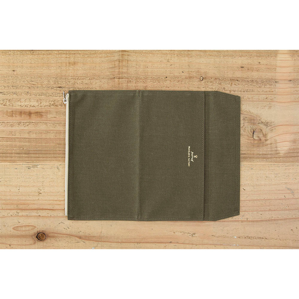 TF Paper Cloth Zipper Case Olive