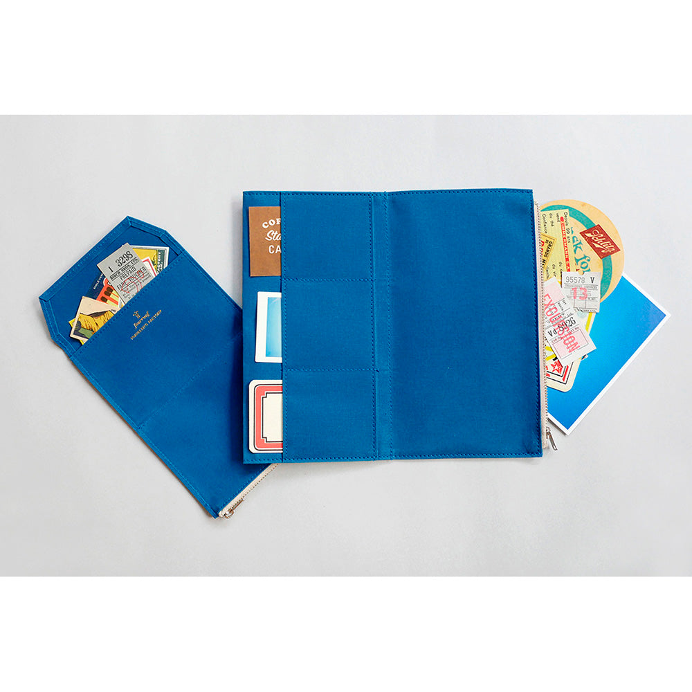 TF Paper Cloth Zipper Case Blue