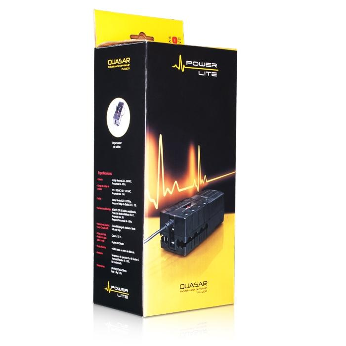 Estabilizador Power Lite PLI1200 8 Salidas - 1200 Watts