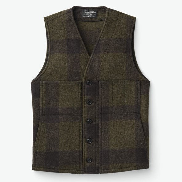 Filson Mackinaw Wool Vest Forest Green / Brown