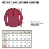 Pike Brothers 1927 Henley Shirt long sleeve granate red