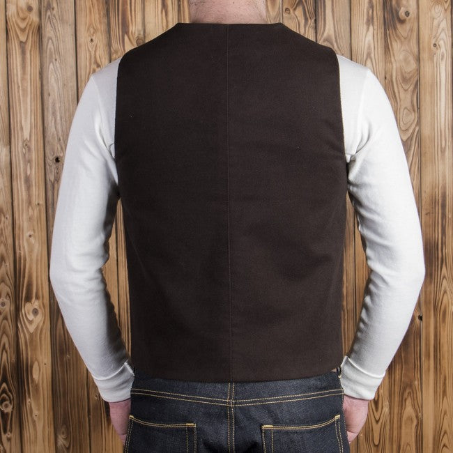 Pike Brothers 1937 Roamer Vest Moleskin Dark Brown