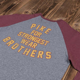 Pike Brothers 1968 Baseball Shirt LS red melange