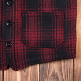 Pike Brothers 1937 Roamer Vest Red Check Wool