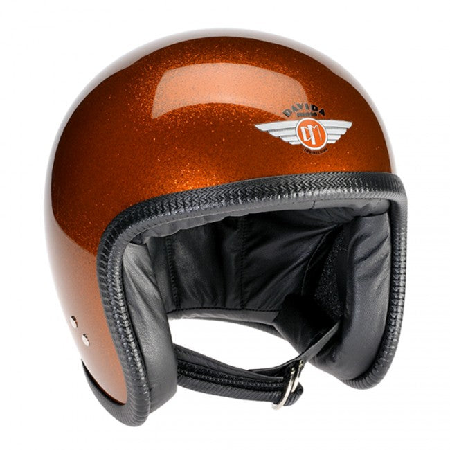 Davida Speedster V3 Motorradhelm Cosmic Flake Orange