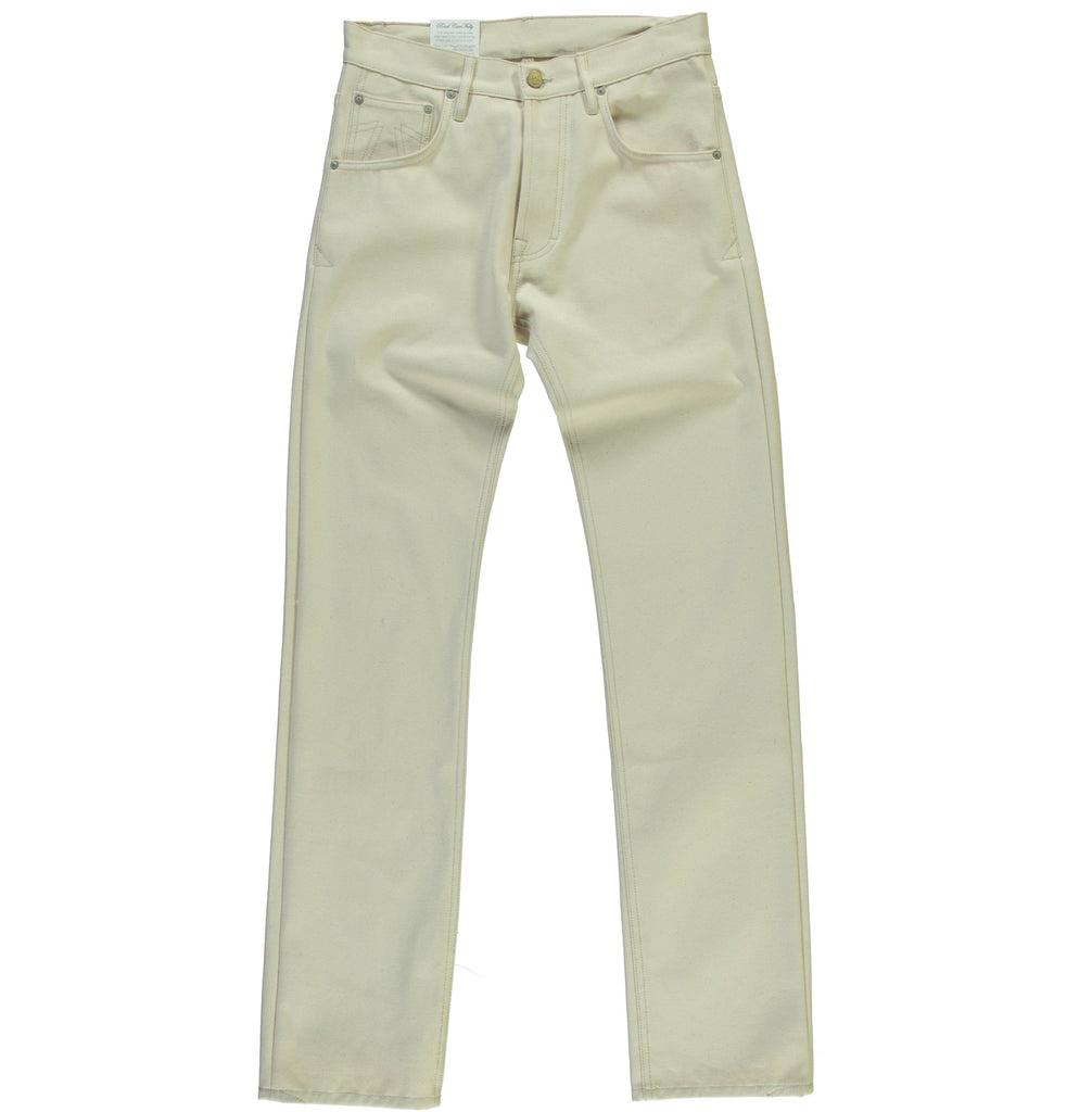 Eat Dust Fit 67 Loose Straight Jeans in Off White