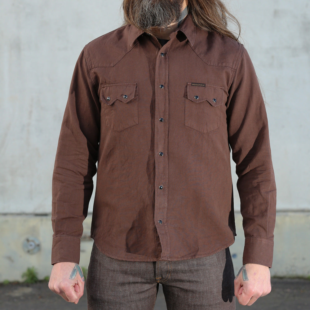 Indigofera Dollard Shirt Dark Brown