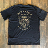 "Iron & Resin ""Ride Like Hell"" T-Shirt schwarz"