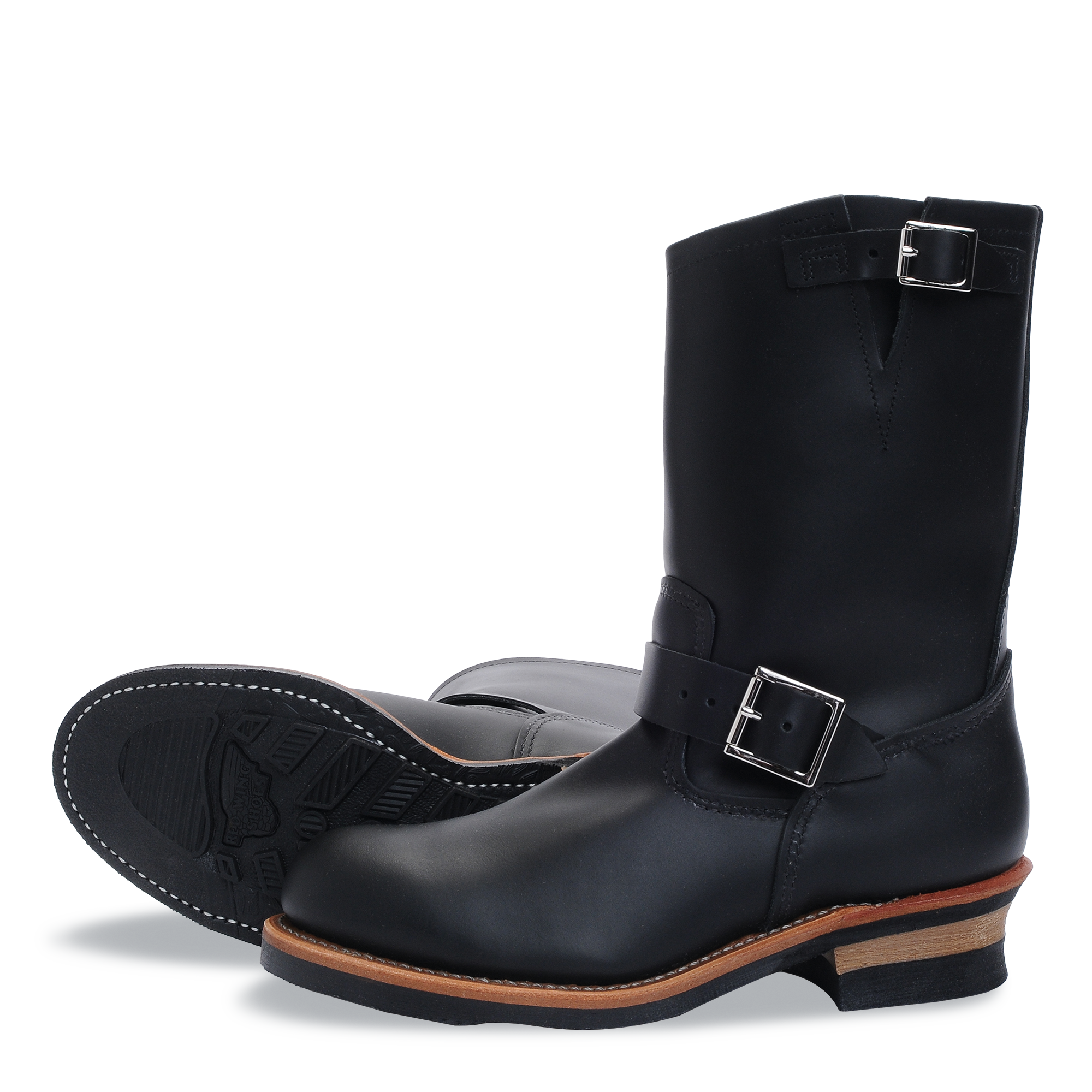 Red Wing Engineer Boot 2268 Black Chrome Leather mit Stahlkappe