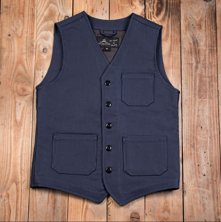 Pike Brothers 1937 Roamer Vest Deutschleder Hamburg Blue