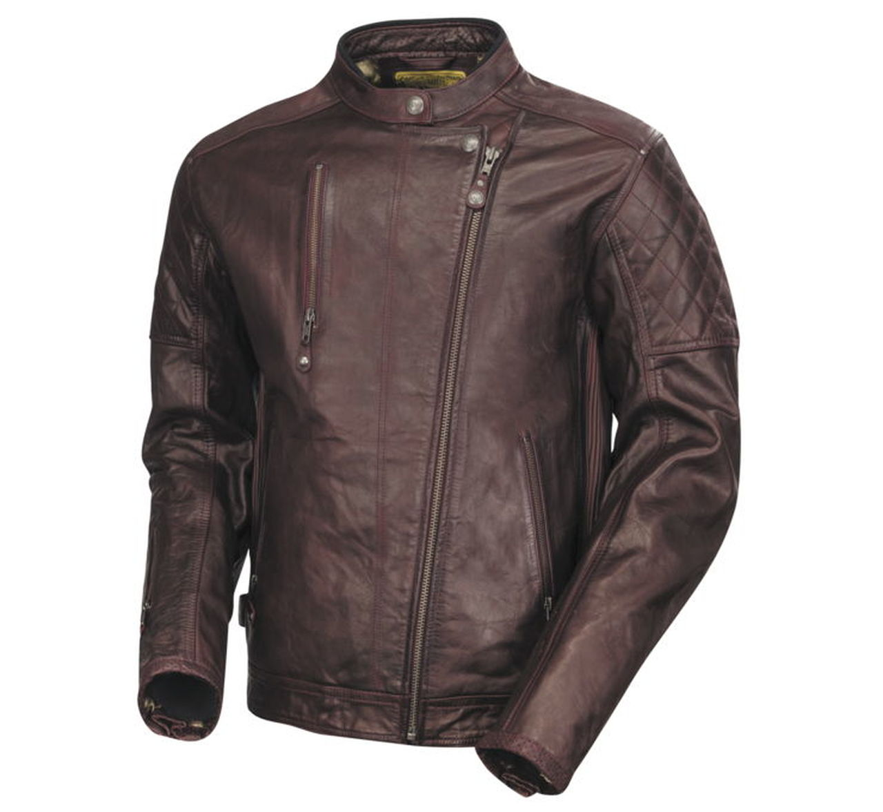 Roland Sands Clash Lederjacke oxblood