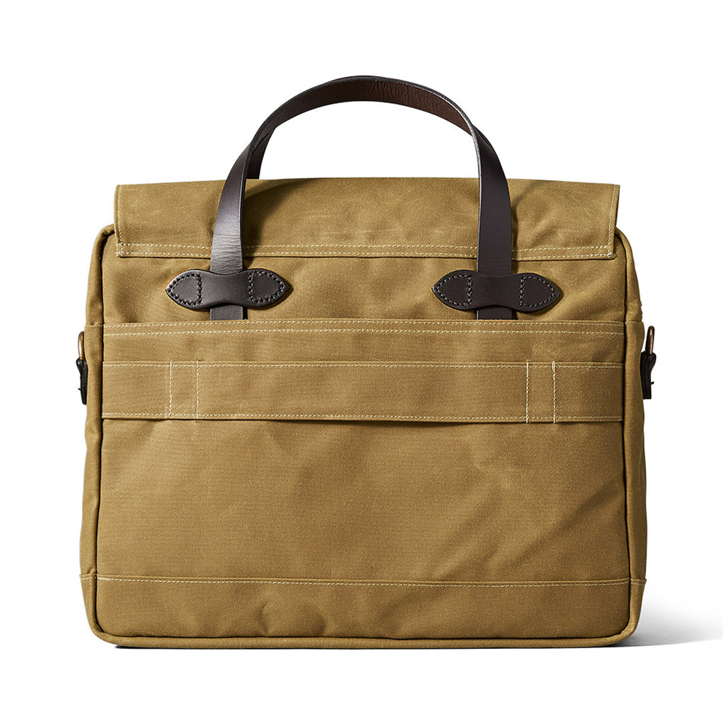 Filson 24-Hour Tin Cloth Briefcase dark tan
