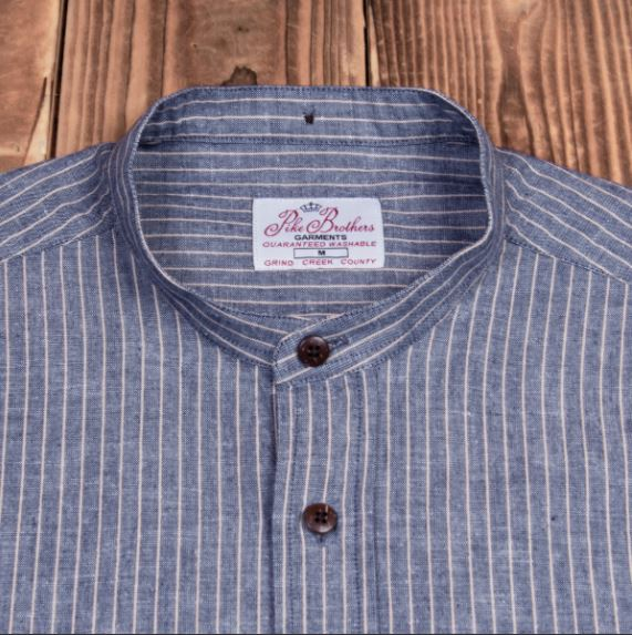 Pike Brothers 1923 Buccanoy Shirt Brisbane Blue