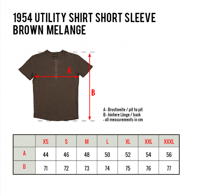 Pike Brothers 1954 Utility Shirt Short Sleeve brown melange