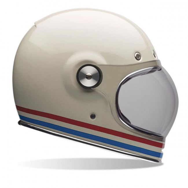 Bell Bullitt Motorradhelm in Stripes / Gloss Pearl White