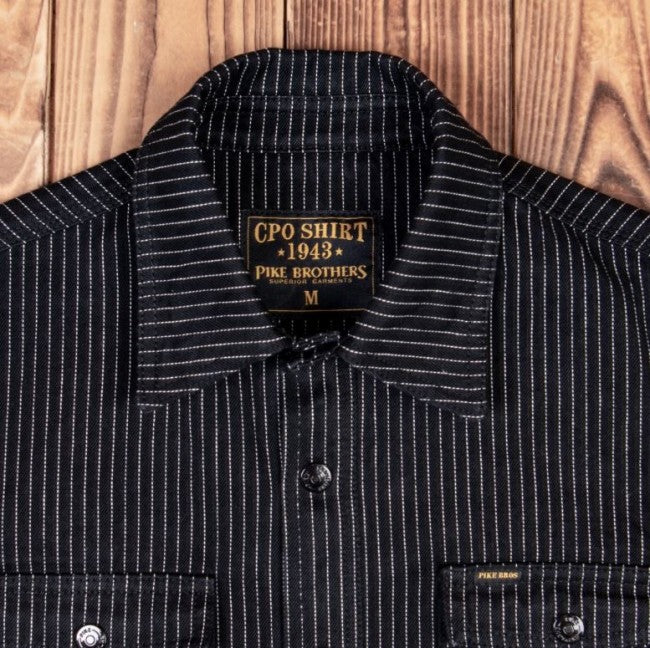 Pike Brothers 1943 CPO Shirt Black Wabash