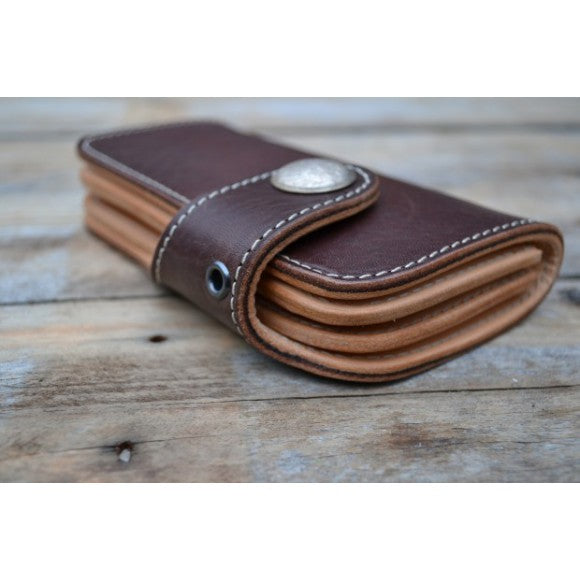Timeless Medium Biker Wallet braun