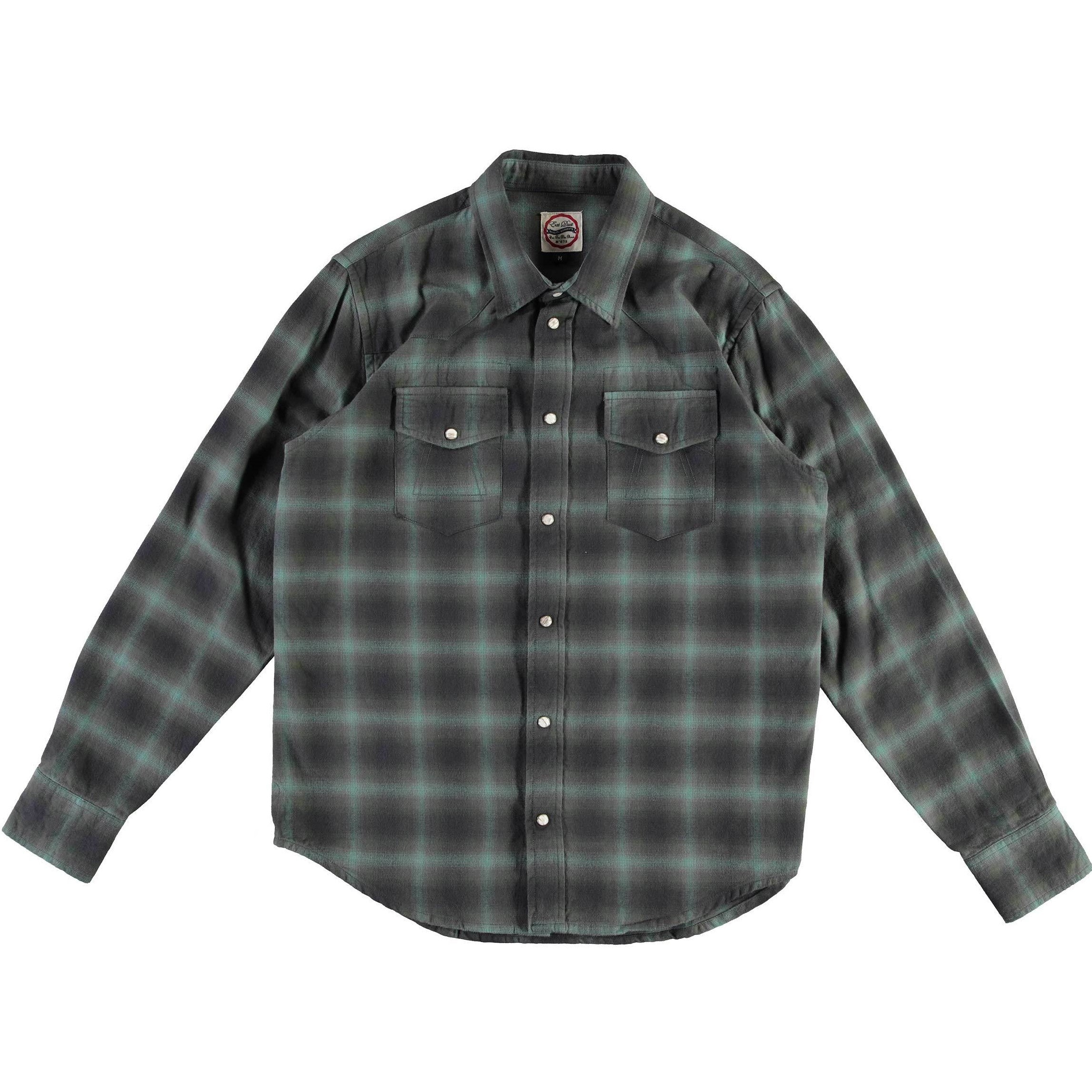 Eat Dust Western Shirt Inverness Check Green