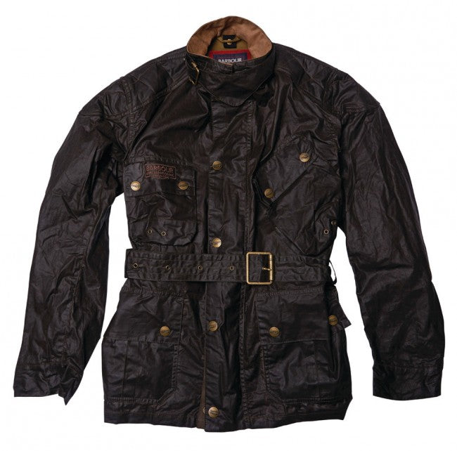 Barbour International™ Minerva Wachsjacke dark olive