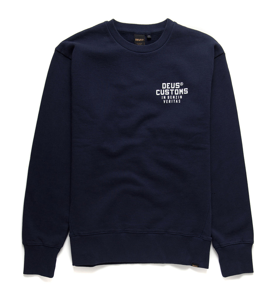 Deus Ex Machina Octane Rainbow Crew Sweatshirt in Navyblau