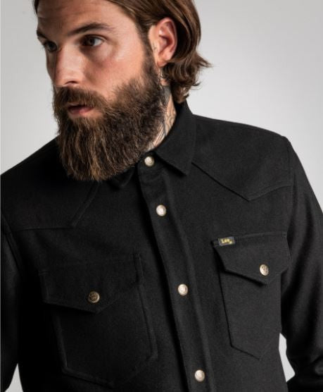 Lee 101 Overshirt schwarz