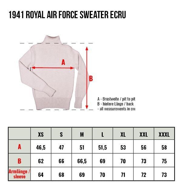 Pike Brothers 1941 Royal Air Force Sweater Ecru