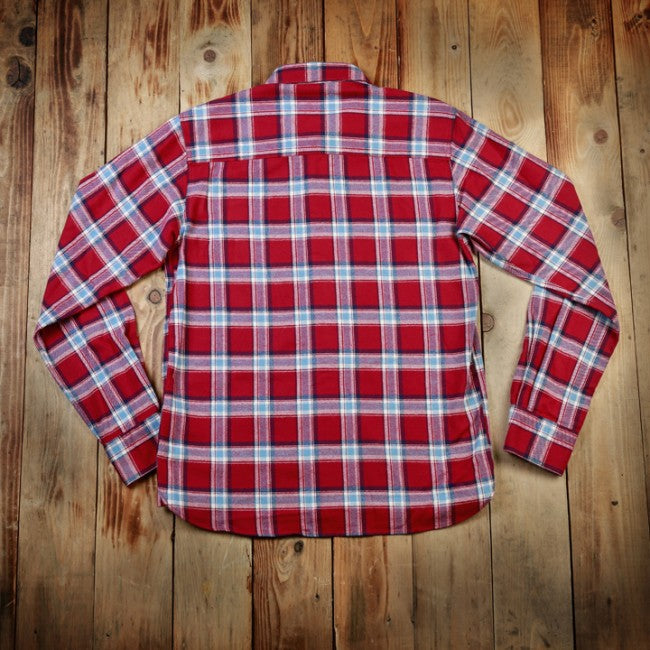 Pike Brothers 1937 Roamer Shirt Flannel Red Red
