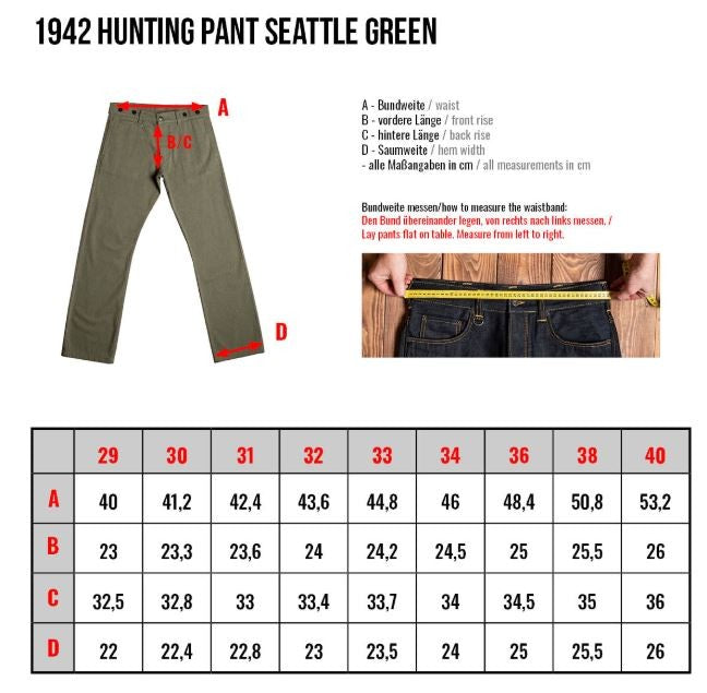 Pike Brothers 1942 Hunting Pant Seattle Green
