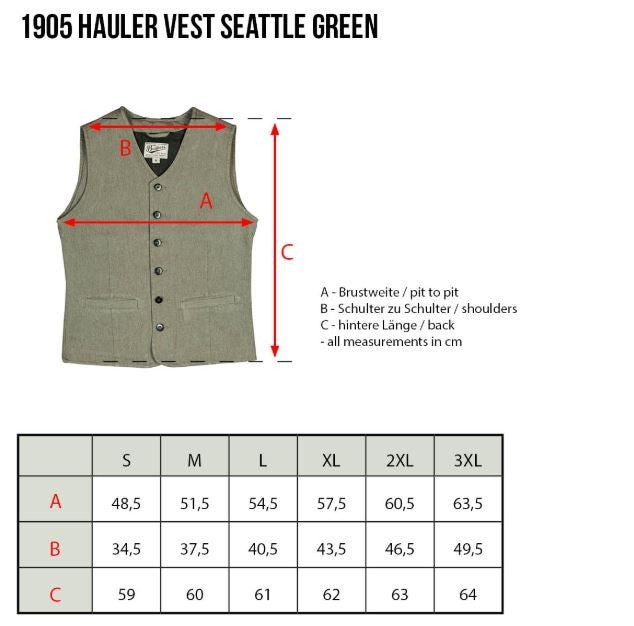 Pike Brothers 1905 Hauler Vest Seattle Green