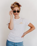 X DANIELLE THE CALI T-SHIRT - White