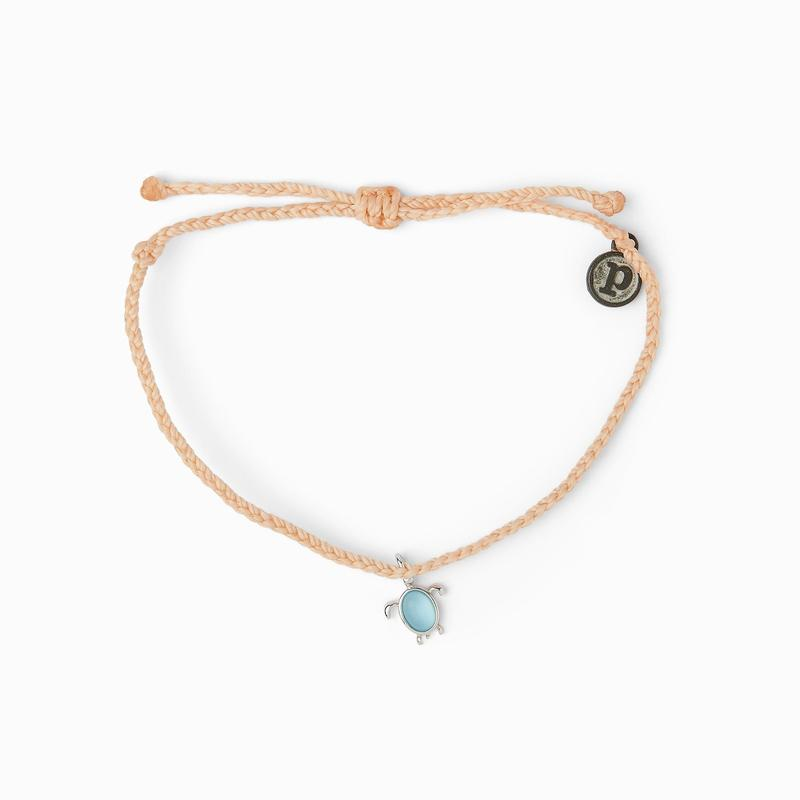 Pura Vida Sea Turtle Bracelet - Blush