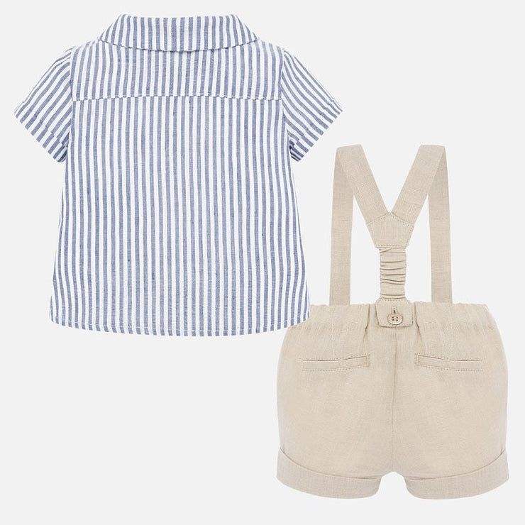 Mayoral Suspender Pants and Shirt Set