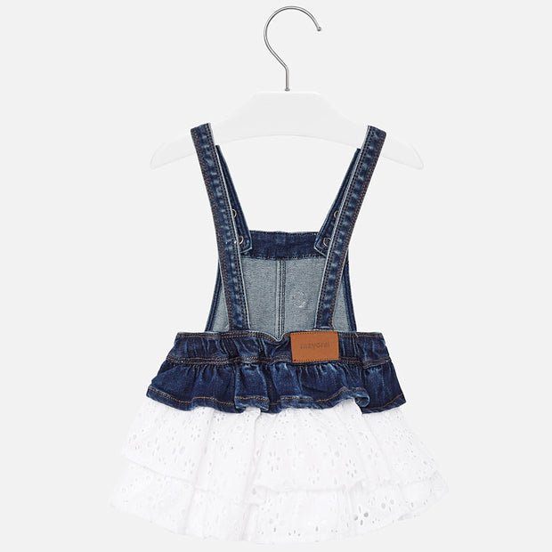 Mayoral Denim Skirt Romper