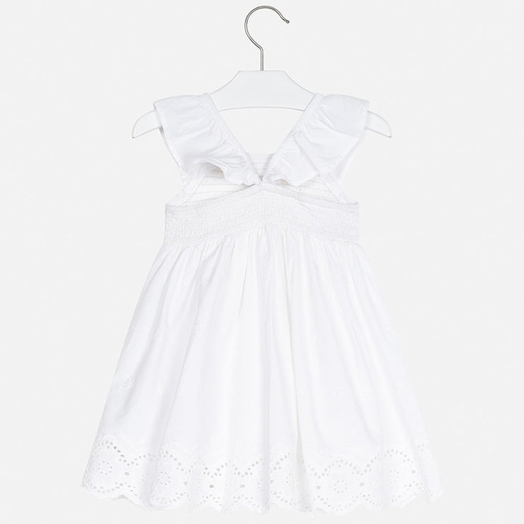 Mayoral White Embroidered Dress