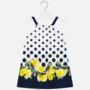 Mayoral Navy Dot/Yellow Flower Dress