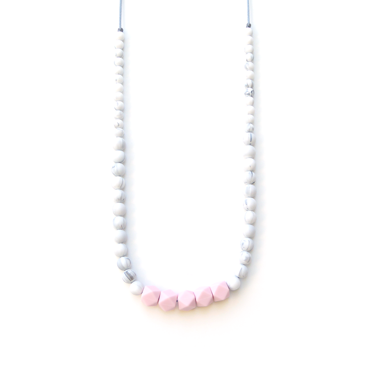 Loulou Lollipop Carrera Marble Silicone Teething Necklace