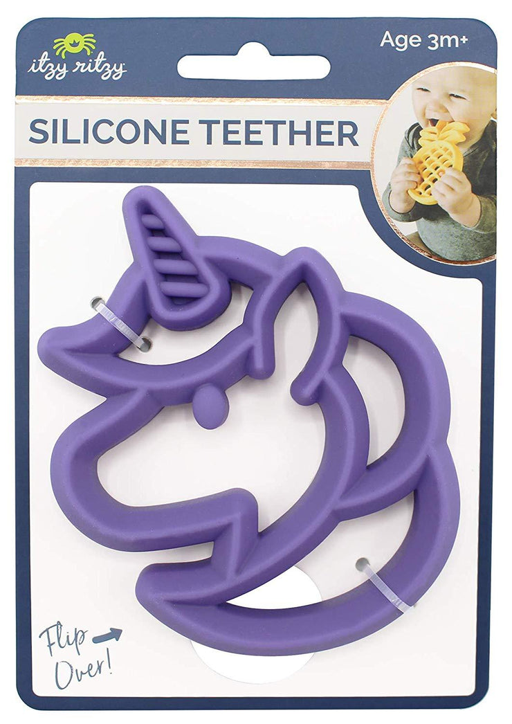 Itzy Ritzy Teething Happens Silicone Teether Unicorn