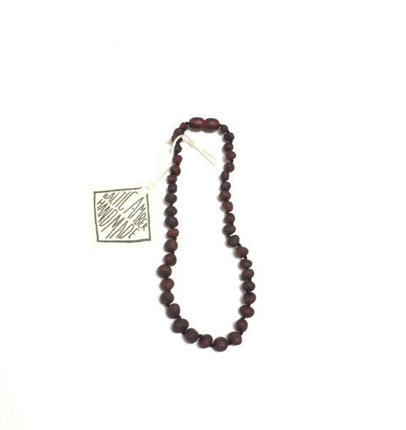 CanyonLeaf Raw Black Amber Necklace