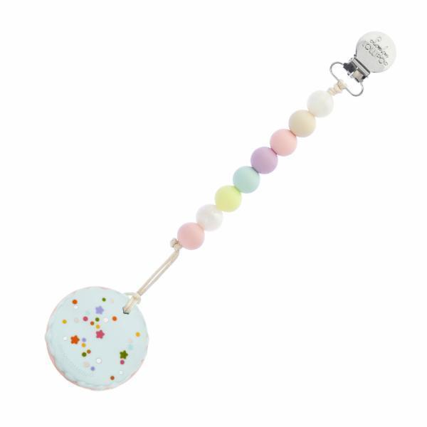 Loulou Lollipop Macaron Teether with Holder Set