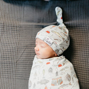 Copper Pearl Knit Swaddle Blanket | Trout