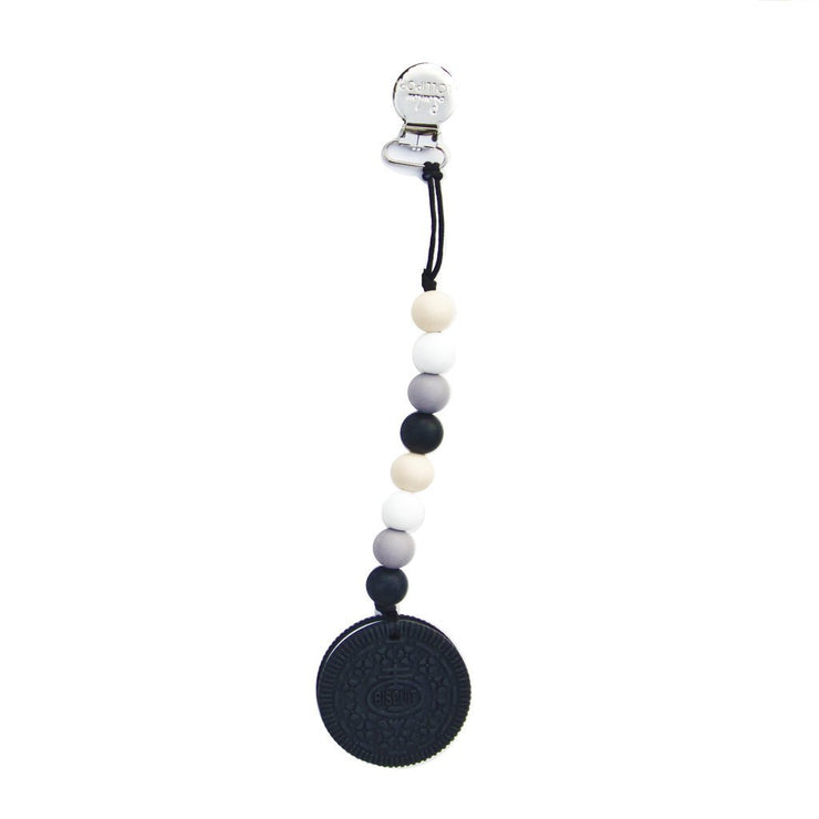 Loulou Lollipop Black Cookie Teether with Holder Set