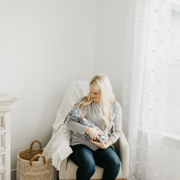 Copper Pearl Knit Swaddle Blanket | Hope