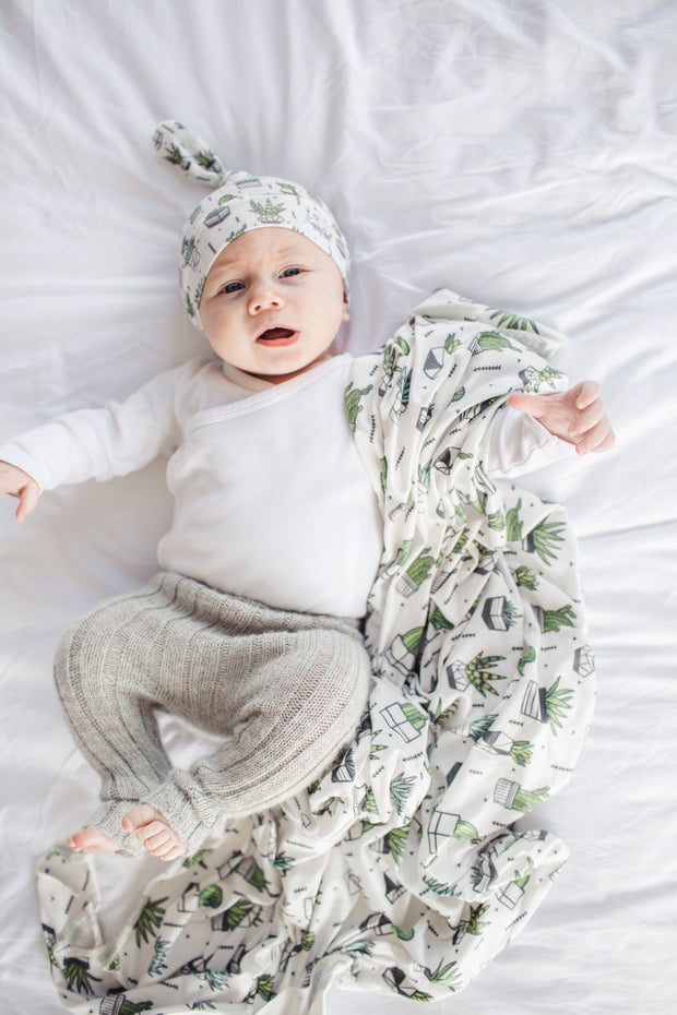 Copper Pearl Knit Swaddle Blanket - Shiloh