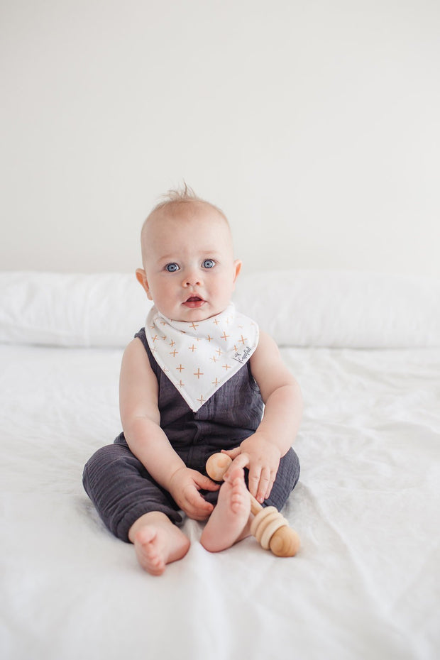 Copper Pearl Baby Bandana Bibs - Chip