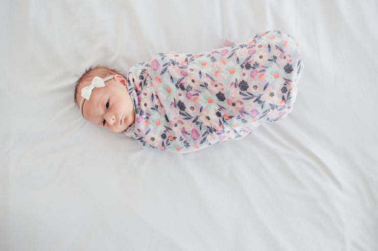 Copper Pearl Knit Swaddle Blanket - Morgan