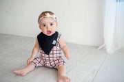 Copper Pearl Baby Bandana Bibs - Black Basics