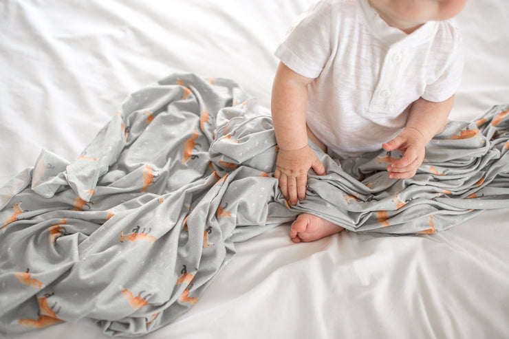 Copper Pearl Knit Swaddle Blanket - Swift