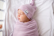 Copper Pearl Newborn Top Knot Hat - Lily
