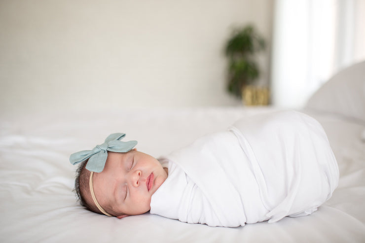 Copper Pearl Knit Swaddle Blanket - Dove
